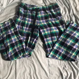 Multicolor flannel drawstring pj pants